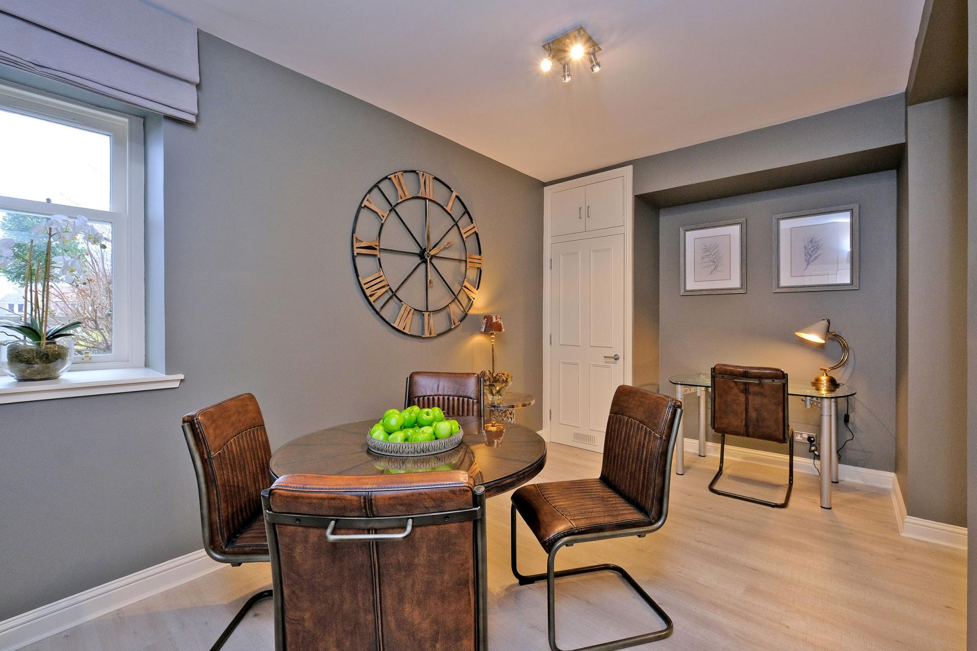 Dining area at Queens Road Apartments - Citybase Apartments