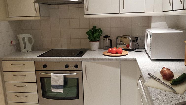 Fully equipped kitchen at Astral House Apartments - Citybase Apartments