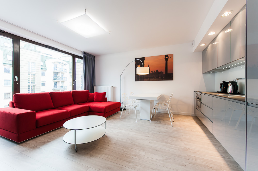 Living area at Wroclaw City Residence - Citybase Apartments