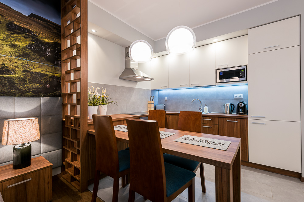 Dining area at Wroclaw City Residence - Citybase Apartments