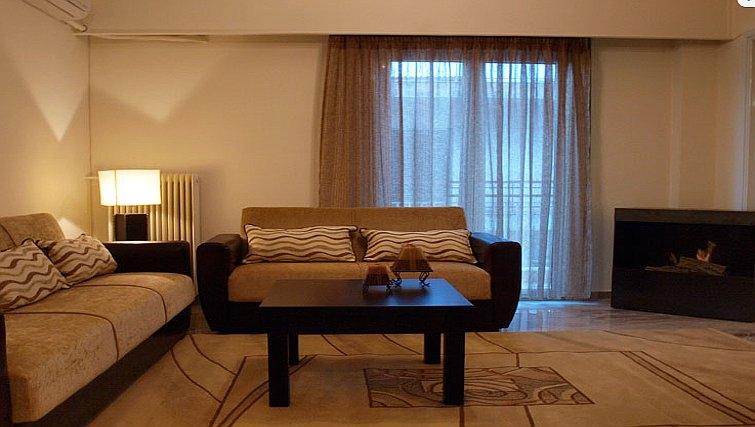 Bold living area in Galatsi Apartment - Citybase Apartments