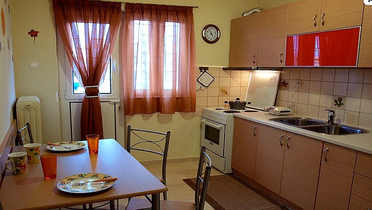 Homely kitchen in Galatsi Apartment - Citybase Apartments