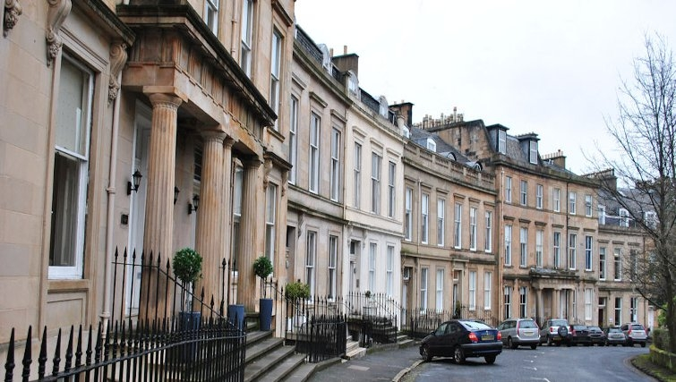 Elegant exterior at Lynedoch Glasgow Apartments - Citybase Apartments