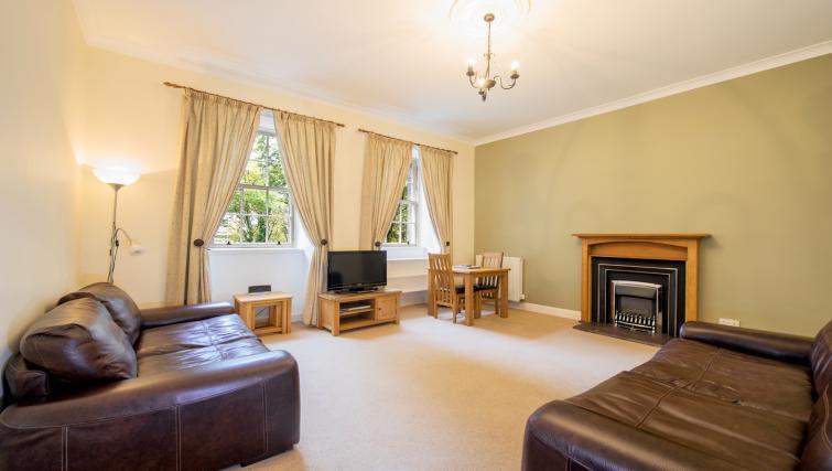Living area at Cullaloe Apartment - Citybase Apartments