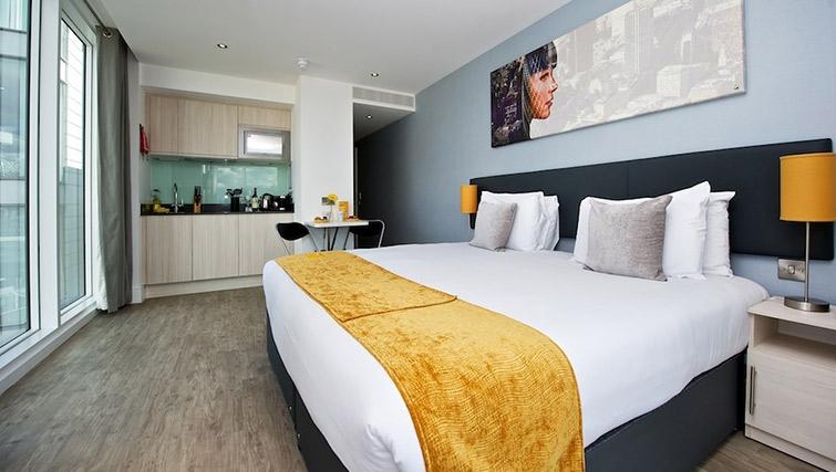 Inviting bedroom at Staycity London Deptford Bridge - Citybase Apartments