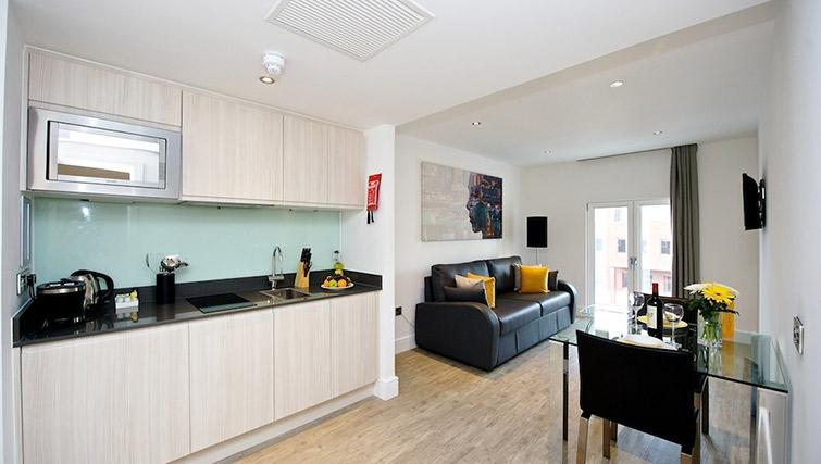Spacious living area at Staycity London Deptford Bridge - Citybase Apartments