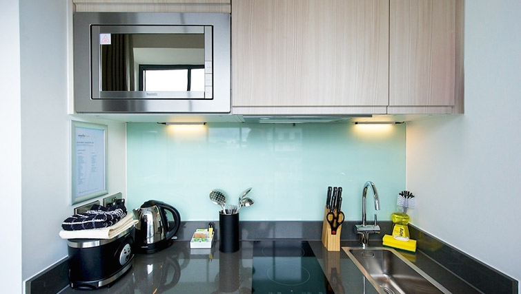 Well equipped kitchen at Staycity London Deptford Bridge - Citybase Apartments