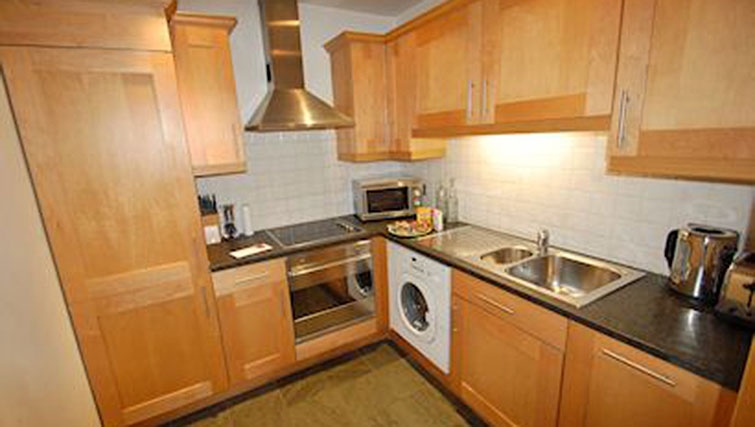 Kitchen at Sovereign House Apartment - Citybase Apartments