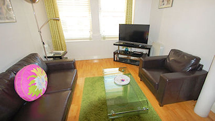 Living area at Sovereign House Apartment - Citybase Apartments