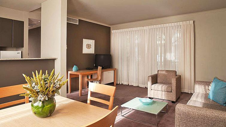 Living area at Adina Apartment Hotel Chippendale - Citybase Apartments