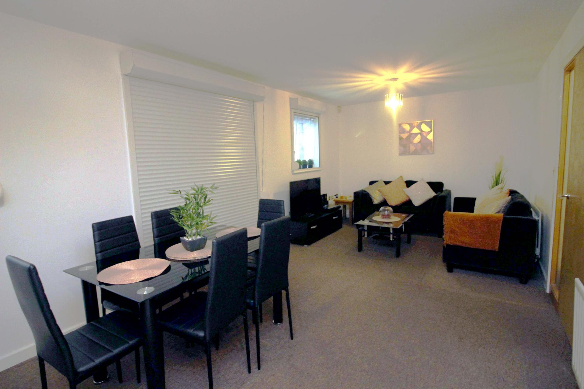 Dining area at Bakers Court Apartment - Citybase Apartments