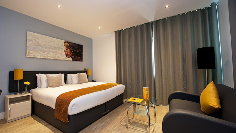 Stylish living area at Staycity London Greenwich High Road - Citybase Apartments