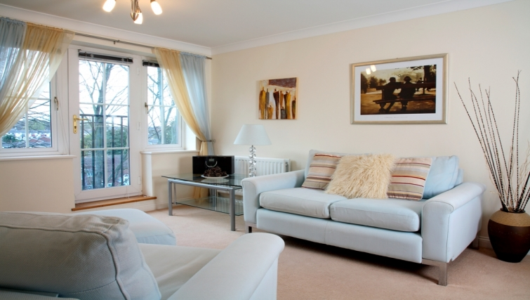 Living area at Westlands House - Citybase Apartments