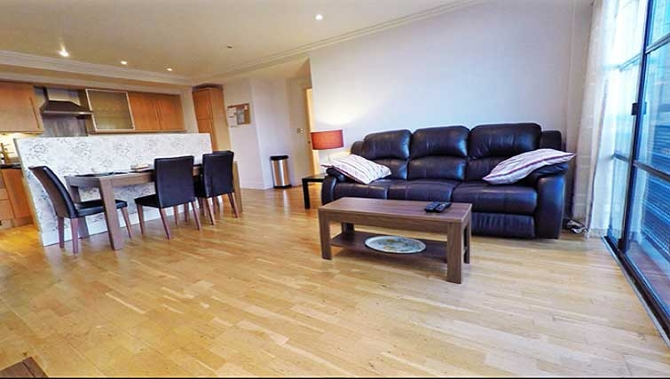 Open-plan living area at Ferry Quays Apartments - Citybase Apartments