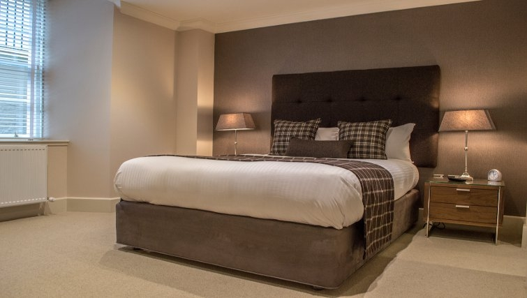 Comfy bedroom in Blythswood Apartments - Citybase Apartments