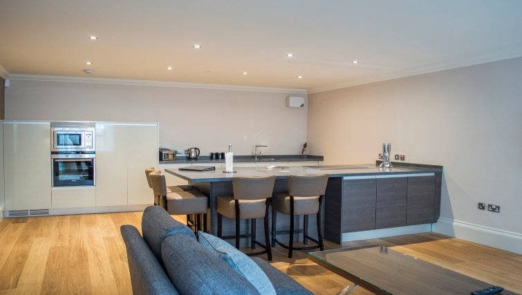 Bright living area at Blythswood Apartments - Citybase Apartments