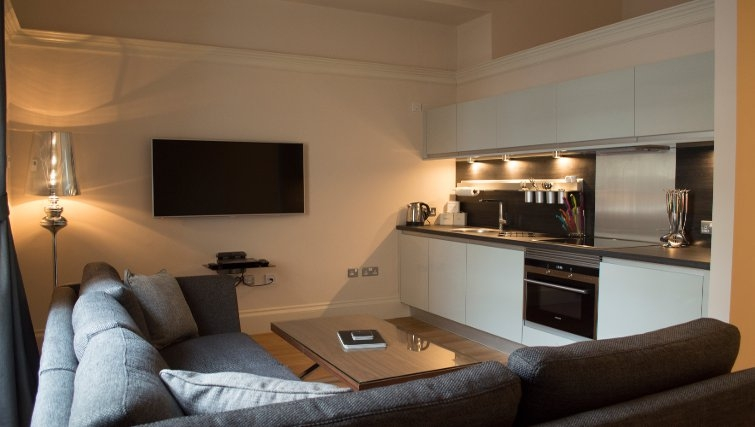 Cosy living area at Blythswood Apartments - Citybase Apartments