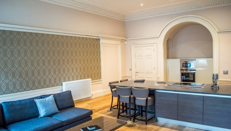 Stylish dining area at Blythswood Apartments - Citybase Apartments