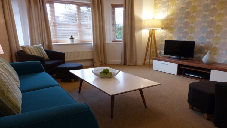 Living area at St Raphael House - Citybase Apartments