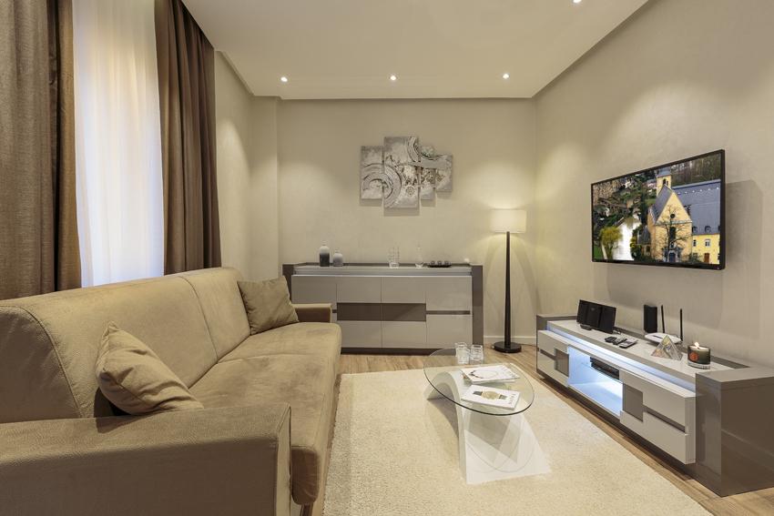 TV at Villa Liberty Apartments - Citybase Apartments