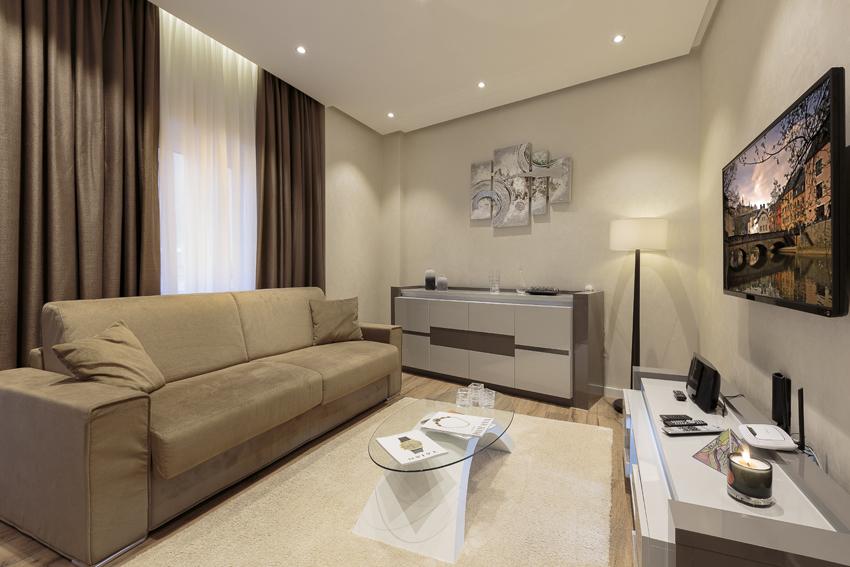 Sofa at Villa Liberty Apartments - Citybase Apartments
