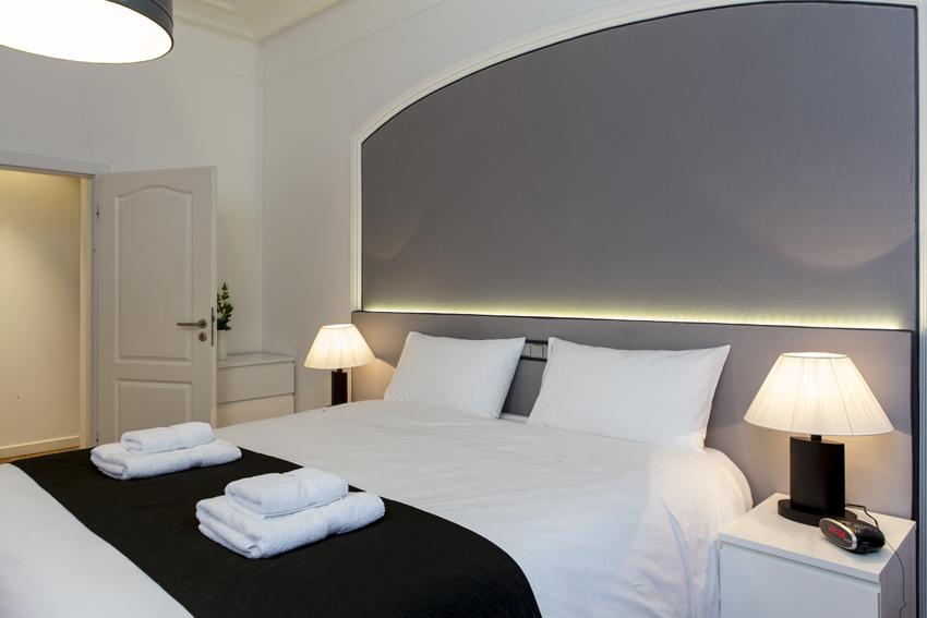 Modern bedroom at Villa Liberty Apartments - Citybase Apartments