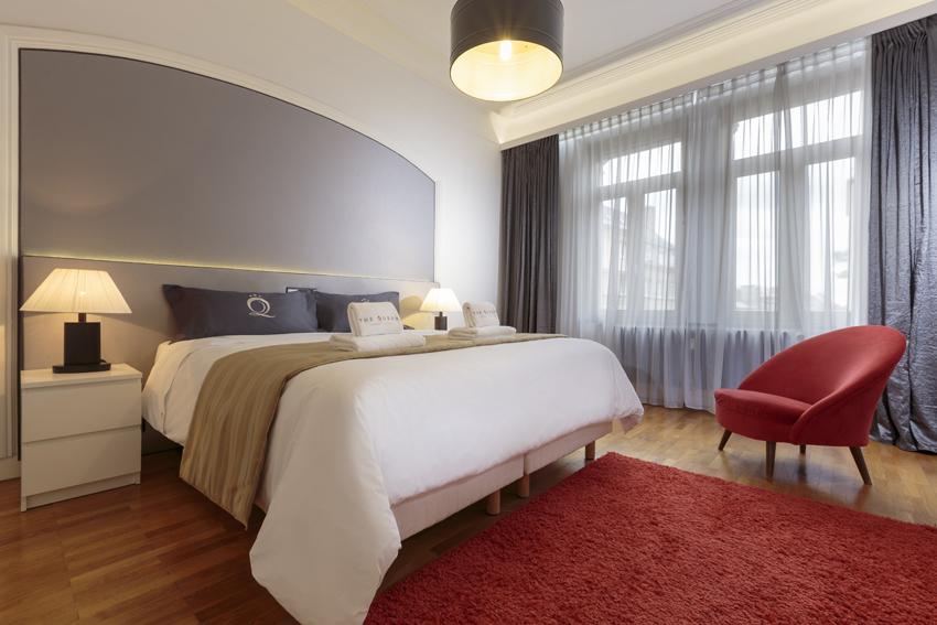 Cosy bedroom at Villa Liberty Apartments - Citybase Apartments