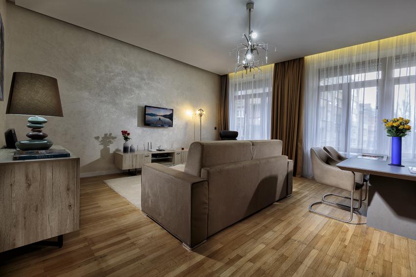 Living room at Villa Liberty Apartments - Citybase Apartments