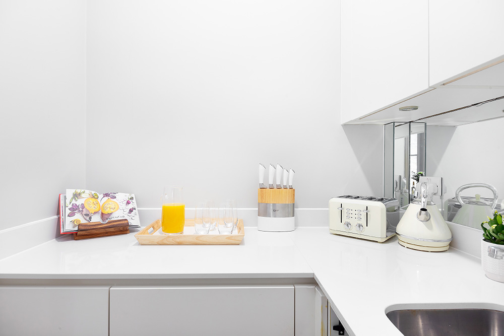 Kitchen at Cleveland Residences Serviced Apartments - Citybase Apartments