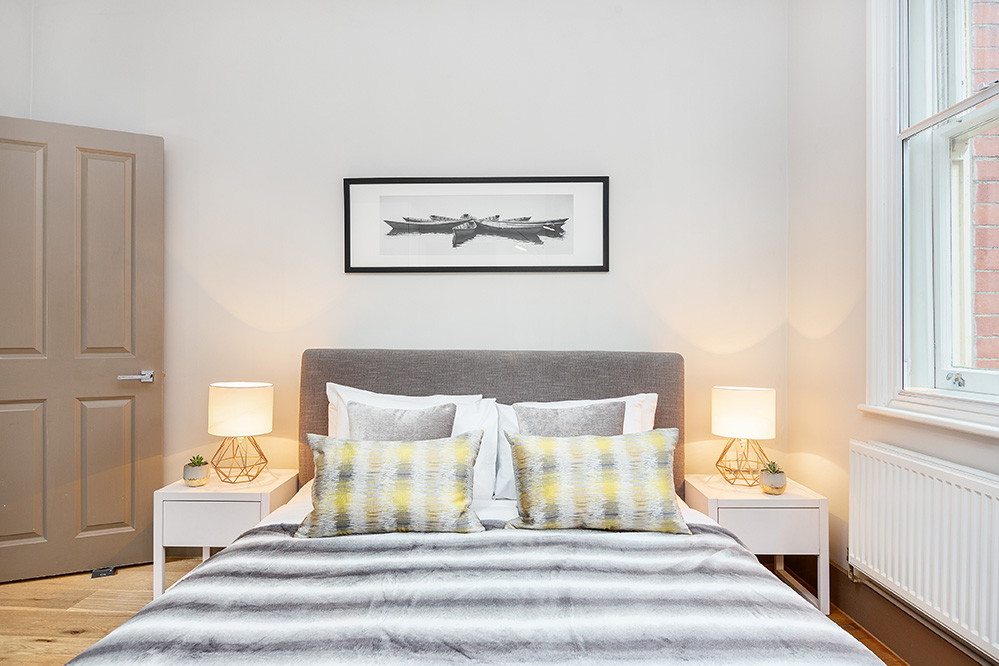 Modern bedroom at Cleveland Residences Serviced Apartments - Citybase Apartments