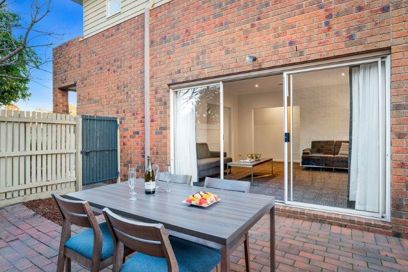 Terrace area at Quest Brighton on the Bay - Citybase Apartments