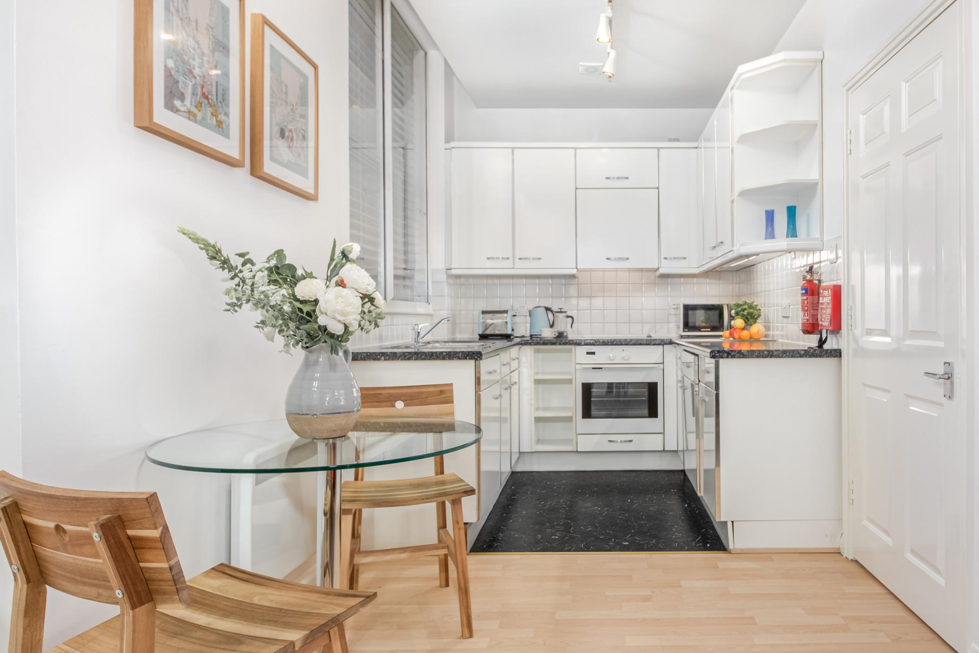 Kitchen at Priory House Apartments, City, London - Citybase Apartments