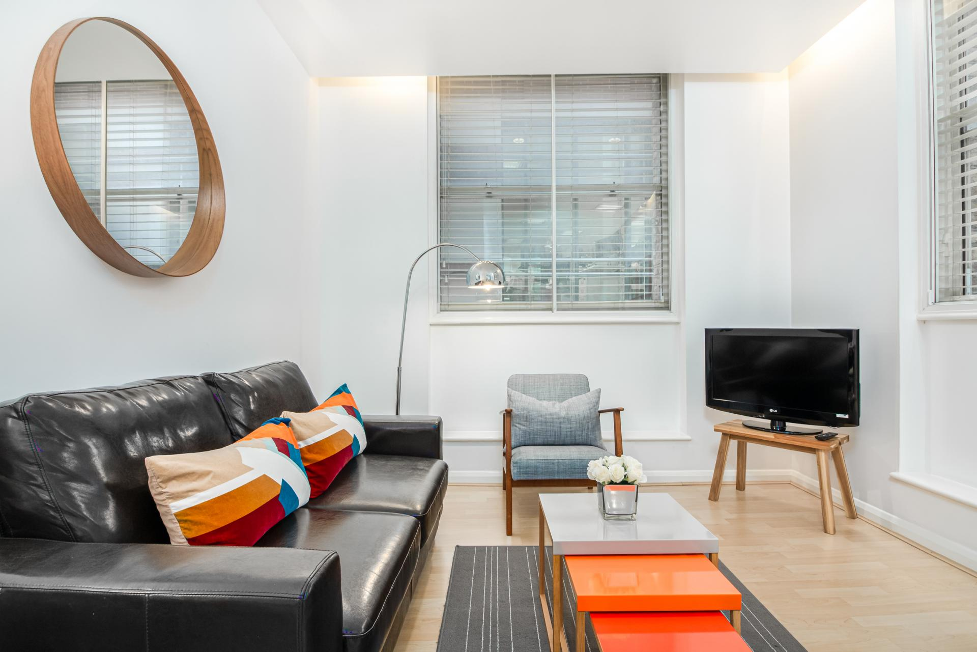 Sofa at Priory House Apartments, City, London - Citybase Apartments