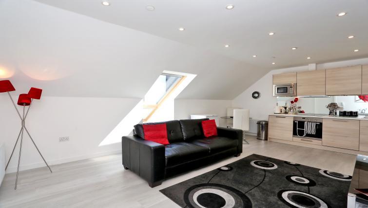 Sofa at Summer Street Apartments - Citybase Apartments