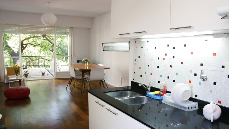 Kitchen at Soler Lofts Apartments - Citybase Apartments