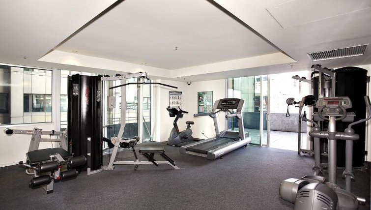 Fitness centre at Astra Melbourne CBD Liberty Tower - Citybase Apartments