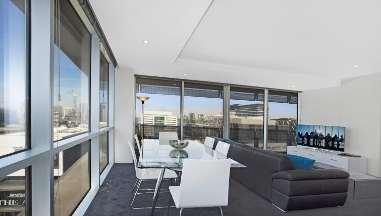 Dining table at Astra Melbourne CBD Liberty Tower - Citybase Apartments