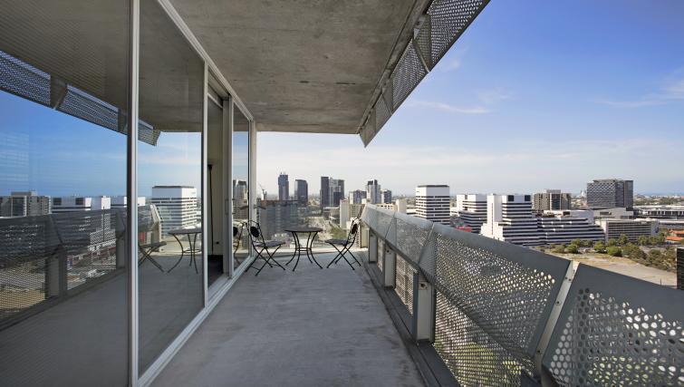 Balcony at Astra Melbourne CBD Liberty Tower - Citybase Apartments
