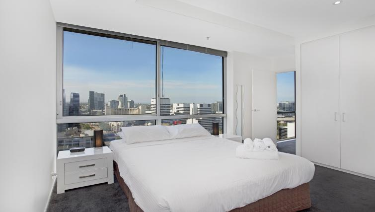 Bedroom at Astra Melbourne CBD Liberty Tower - Citybase Apartments