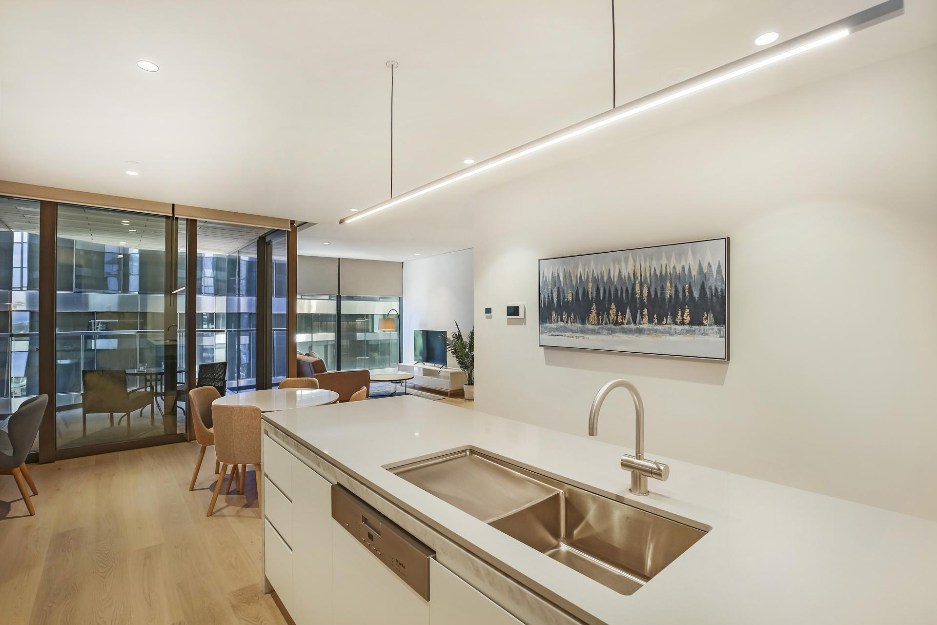 Kitchen at Astra Melbourne CBD Liberty Tower, Centre, Melbourne - Citybase Apartments