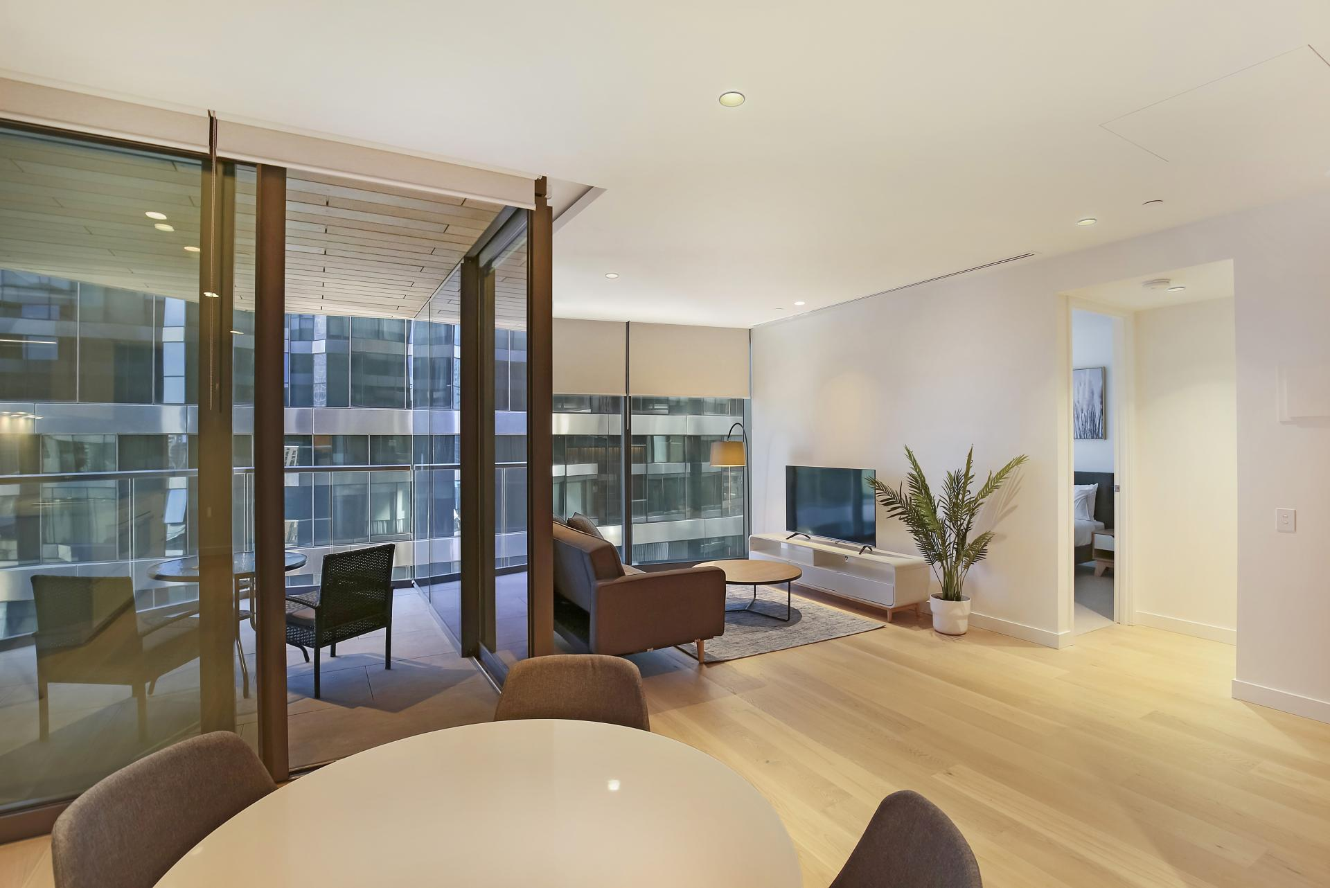Large living area at Astra Melbourne CBD Liberty Tower, Centre, Melbourne - Citybase Apartments