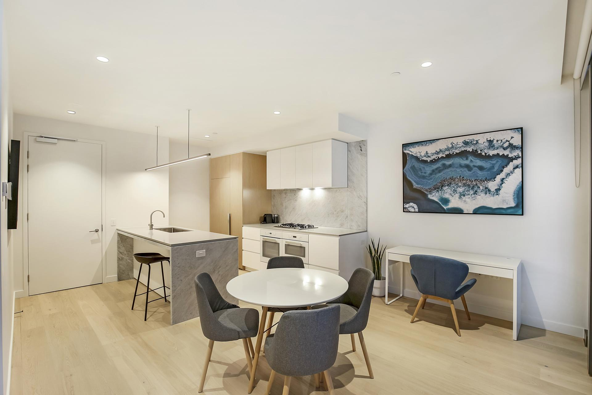 Dining at Astra Melbourne CBD Liberty Tower, Centre, Melbourne - Citybase Apartments