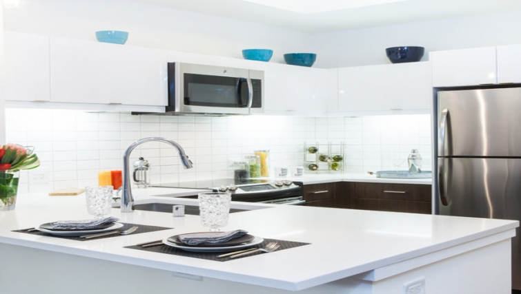 Fully equipped kitchen at Venn Apartments - Citybase Apartments