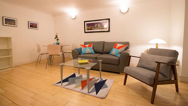 Sofa at Monument ApartmentMonument Apartment - Citybase Apartments
