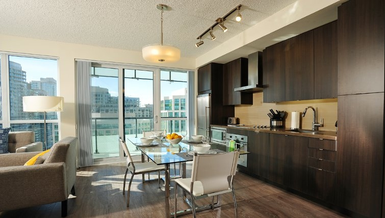 Open plan kitchen at 300 Front Apartments - Citybase Apartments