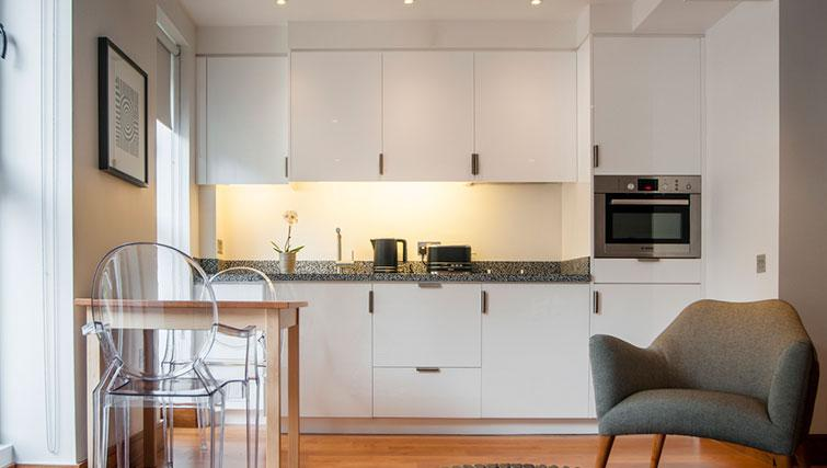 Spacious kitchen at Native Aldgate Apartments - Citybase Apartments