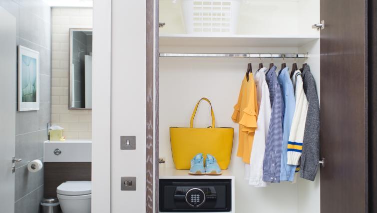Wardrobe at Staybridge Suites London Vauxhall - Citybase Apartments