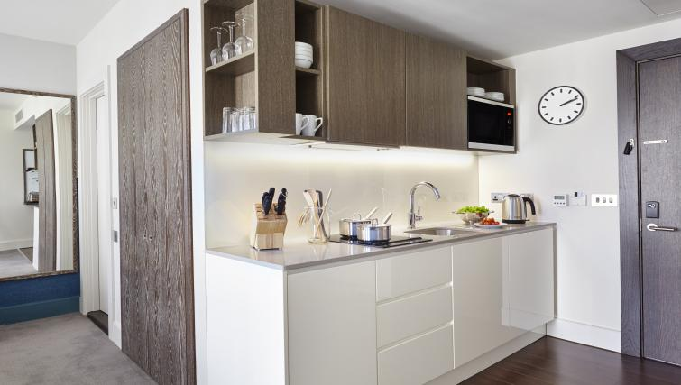 Kitchen at Staybridge Suites London Vauxhall - Citybase Apartments