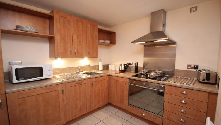 Equipped kitchen at Baltic Quays Apartments - Citybase Apartments