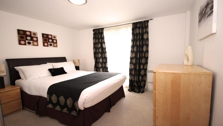 Master bedroom at Baltic Quays Apartments - Citybase Apartments